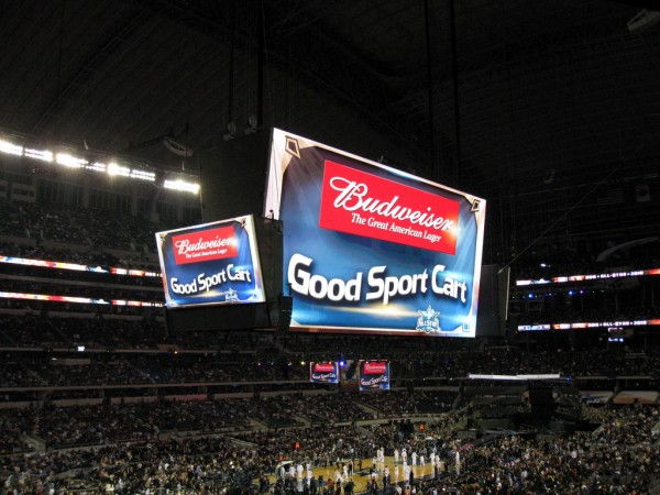Image Attribute: Budweiser Ad, Texas Stadium NBA / Creative Commons