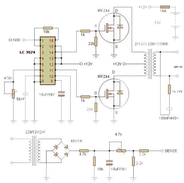 inverter circuit 1500w power inverter circuit