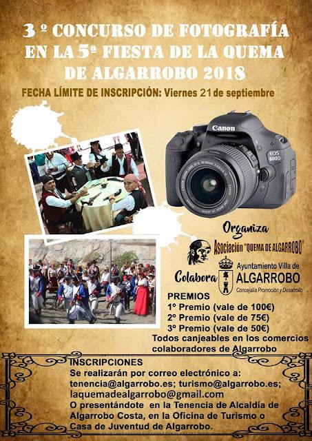 3º Concurso de Fotografía de la Fiesta de la Quema de Algarrobo