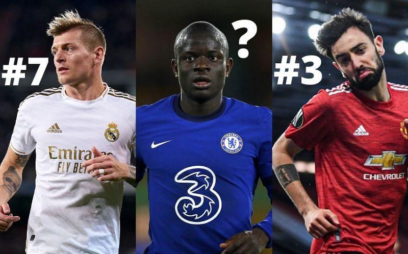 أفضل 10 لاعبي خط وسط في كرة القدم العالمية هذا الموسم