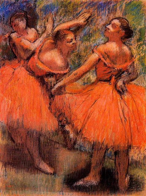 Эдгар Дега - Танцовщицы в красном (1897-1901)