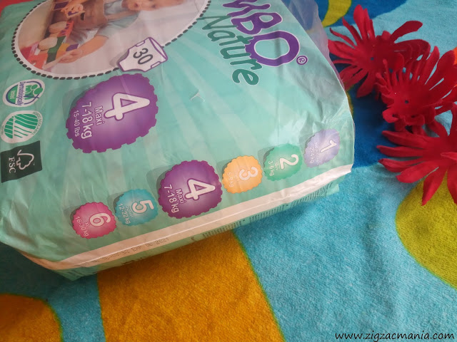 Bambo Nature Diapers Sizes & Weight