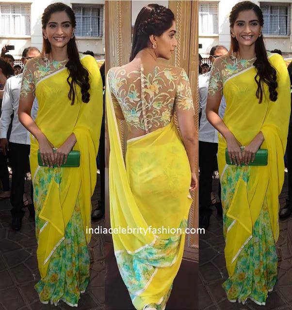 Sonam Kapoor in Abu Sandeep Sari