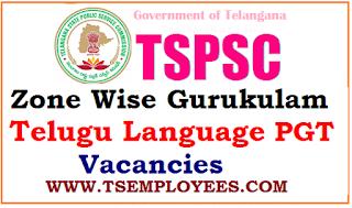 TSPSC Zone Wise Gurukulam Telugu language PGT Vacancies TSPSC Subject Wise Vacancies Zone wise Zonal wise vacancies TSPSC Gurukulam PGT vacancies zone wise district wise TREIS, TSWREIS, TMREIS, TTWREIS, MJPTBCWREIS Recruitment 2017 TSPSC Gurukulam vacancies subject wise TSPSC PGT gurukul Recruitment Notification 2017 7032 posts School wise subject wise district wise zoneal eise zone wise caste wise vacancies Telangana PGT Vacancies 2017 Teaching, Non Teaching Posts 2017 Recruitment TSPSC Recruitment Subject wise PGT posts vacancies in Telangana gurukulams, Subject wise PGT posts vacancies for TSPSC Gurukulams Recruitment 2017, Trained Graduate Teachers in Residential Educational Institutions Societies treis,tswreis, tmreis,ttwreis, mjptbcwreis TSPSC gurukul recruitment notification 2017 Gurukulam recruitment, Gurukulam teacher posts, SW,BC,ST,Minority Schools Recruitment