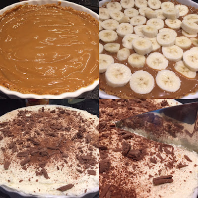 Banoffee Pie photo collage