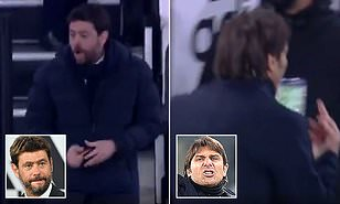 Juventus chief Andrea Agnelli jokes Antonio Conte flipping middle finger was 'gesture of affection'