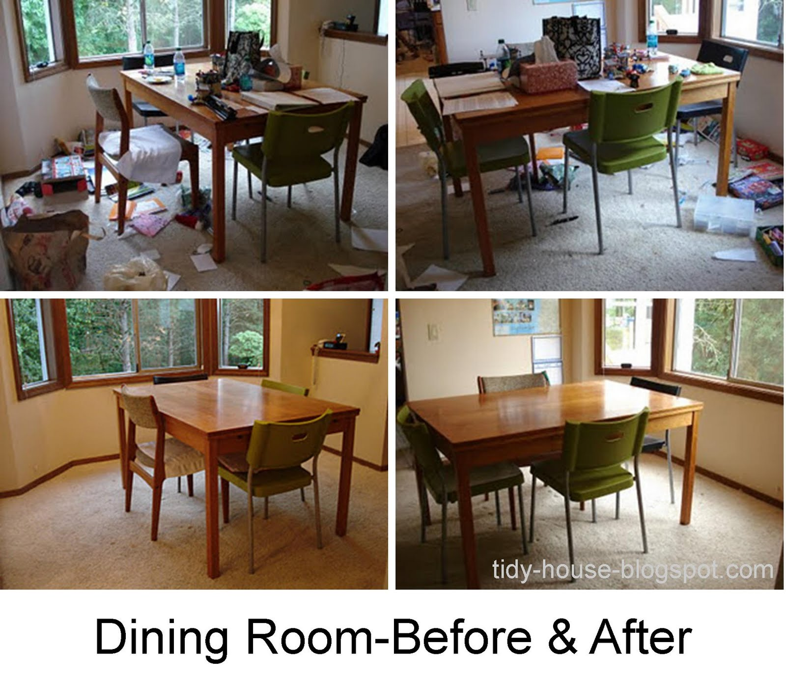 Tidy House: Final Dining Room-Before And After