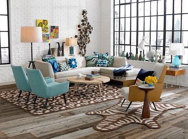 salon moderne et chic