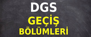 Metalurji DGS Geçiş Bölümleri