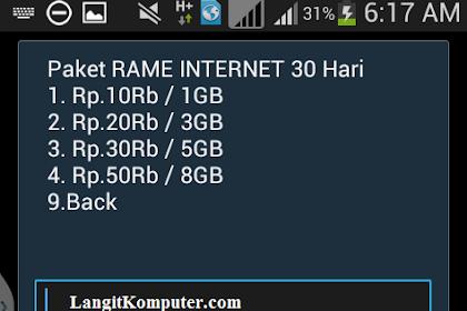 Paket RAME INTERNET 30 Hari 10rb / 1GB