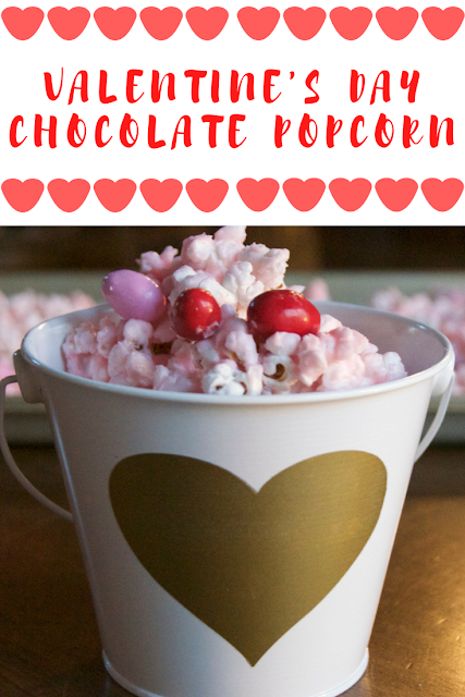 valentine's day chocolate popcorn