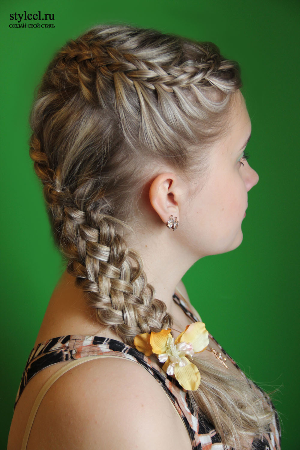 Local style Forty and one braid hairstyles