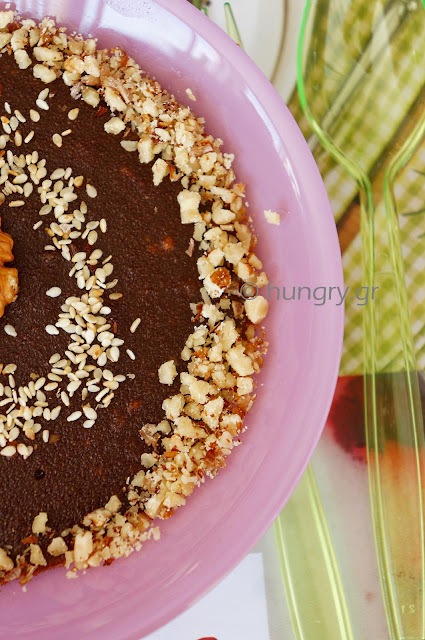 Grape Molasses Semolina Pudding-Moustalevria