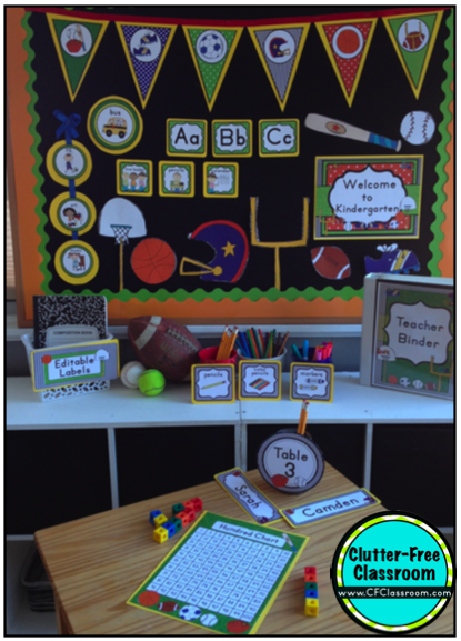 Sports Themed Classrooms Clutter Free Classroom