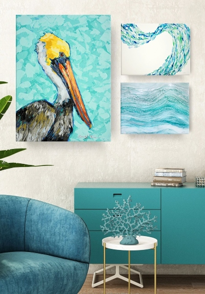 Seashore Gallery Wall Idea