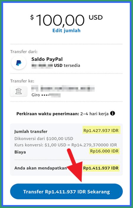 transfer paypal ke gopay
