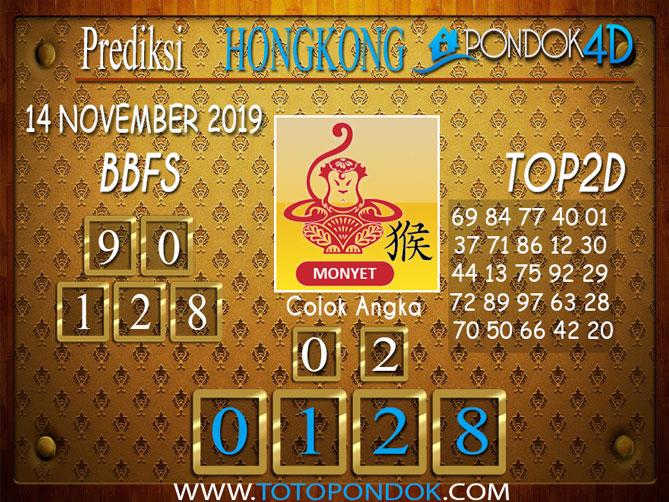 Prediksi Togel HONGKONG PONDOK4D 14 NOVEMBER 2019
