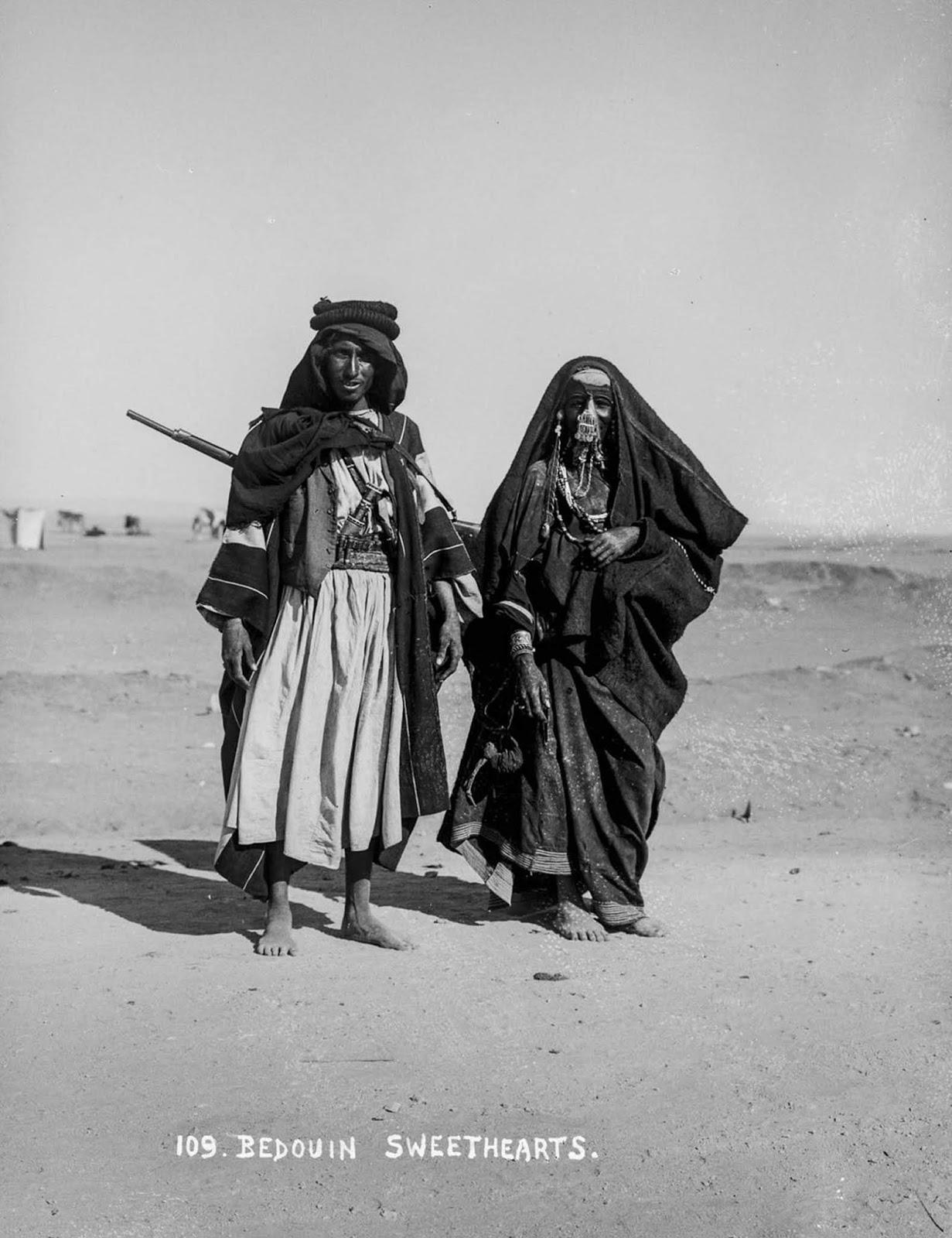 Bedouin sweethearts.