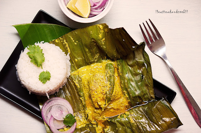 how to make bengali Macher Paturi recipe / Bengali style Steamed Fish in Banana Leaf recipe / ilish macher sorshe paturi recipe / bhetki macher sorshe paturi recipe and preparation with step by step pictures