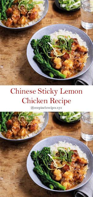 Chinese Sticky Lemon Chicken Recipe