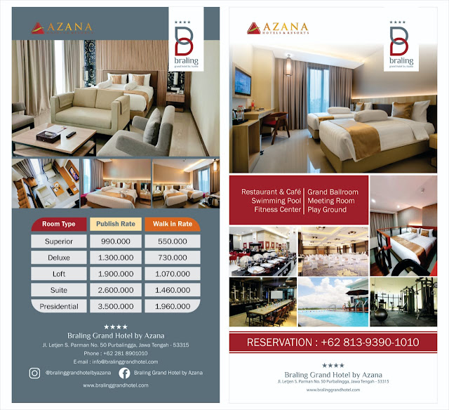 Rate Room Braling Grand Hotel by Azana
