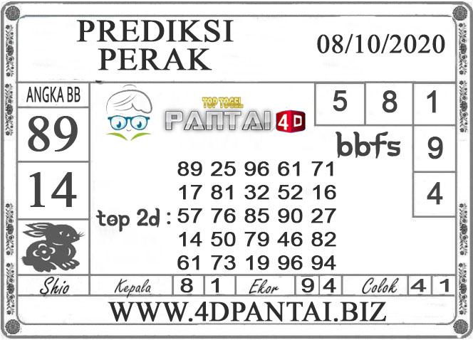 PREDIKSI TOGEL PERAK PANTAI4D 08 OKTOBER 2020