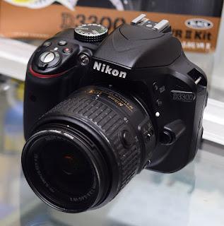 Jual Kamera DSLR Nikon D3300 Lensa Kit VR2 Fullset