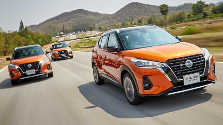 Nissan Kick 2021 ra mắt tại Thái Lan tự sạc pin bằng động cơ đốt trong