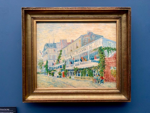 Van Gogh's The Restaurant de la Sirene at Asnieres