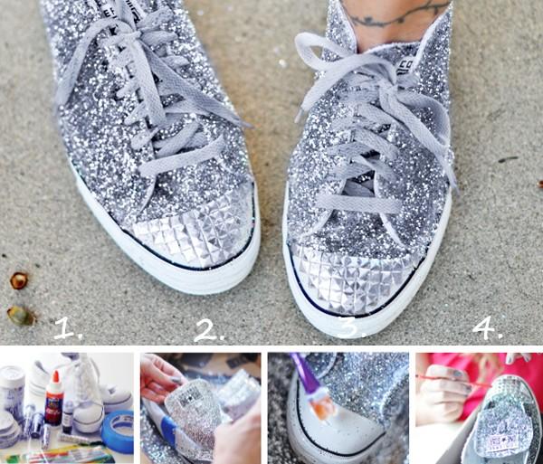 Làm mới f5 cho đôi giầy tăng chiều cao sneaker cũ một cách ảo diệ1u