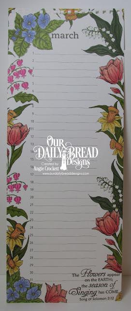 ODBD The Lord Has Risen, ODBD Easter Blessings, ODBD Daffodil Corner, ODBD Tulip Corner, ODBD Bleeding Hearts Single, Calendar Designed by Angie Crockett