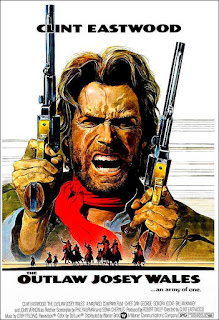 poster de El fuera de la ley. Clint Eastwood