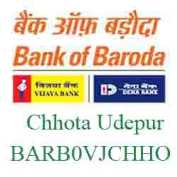 Vijaya Baroda Bank Chhota Udepur Branch New IFSC, MICR