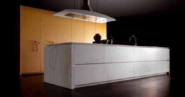 Cuero y m rmol materiales poco usuales en la cocina for Materiales de marmol