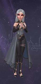 Zoya dressed as a Dark Elf