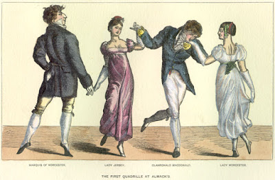 The first quadrille at Almack's c1815 from The Reminiscences and Recollections of Captain Gronow (1889)