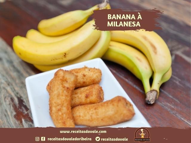 Receita de Banana à milanesa
