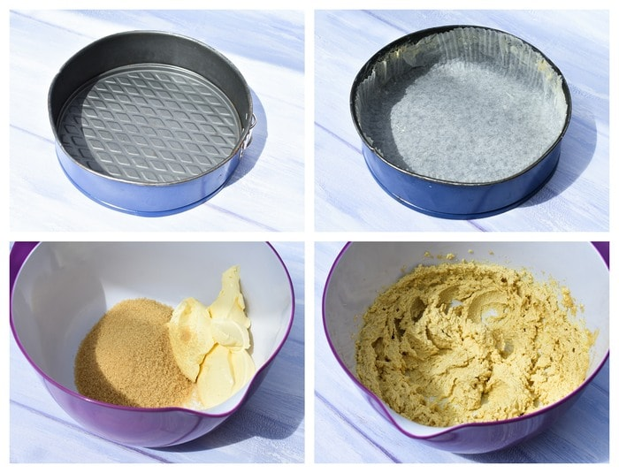 step-by-step photos of making cake batter