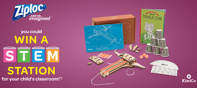 Ziploc wants to make you a classroom hero! Just enter every day for your chance to win a S.T.E.M. Station worth almost $500 for your childrens' school!