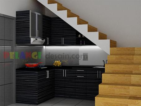 Kitchenset pelangi desain interior kitchen set dibawah tangga for Kitchen set bawah