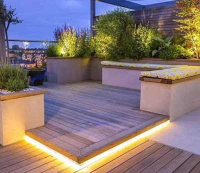 Terraces and Balcony Decoration and lighting