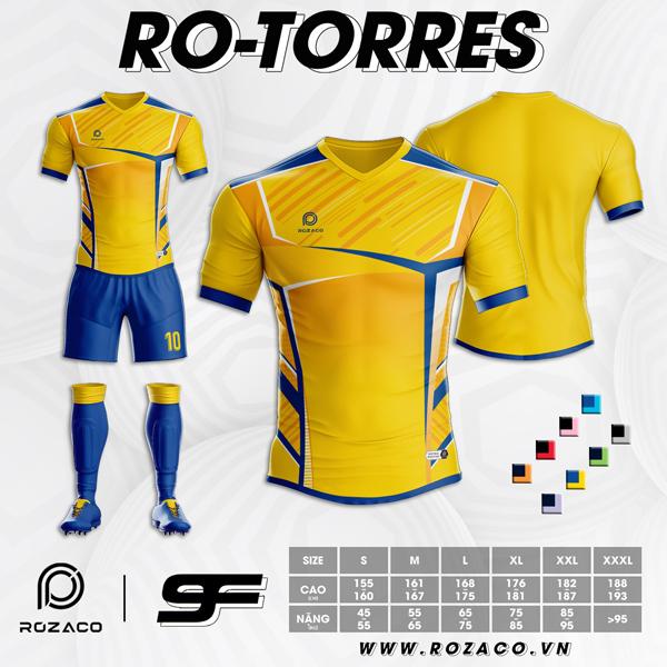 Áo Không Logo Rozaco RO-TORRES Màu Vàng