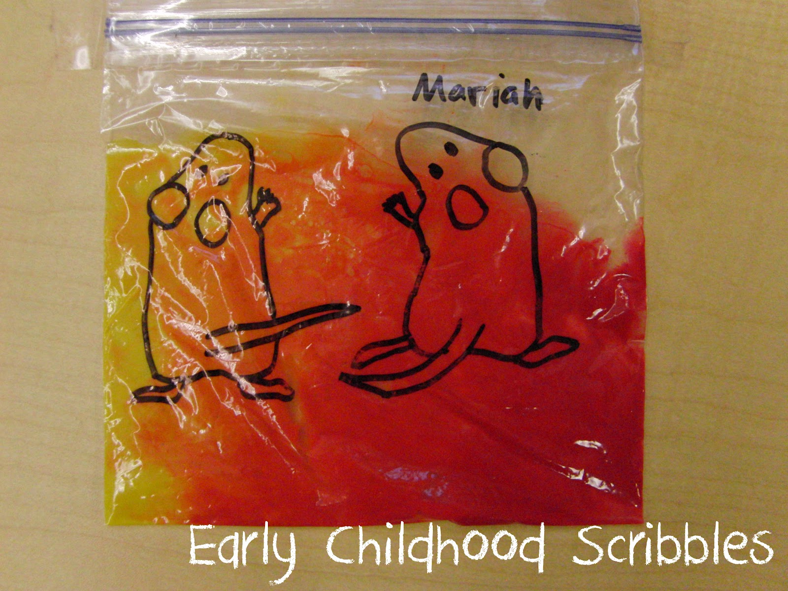 Early Childhood Scribbles Mouse Paint