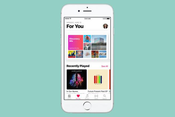 App musik di iOS 10