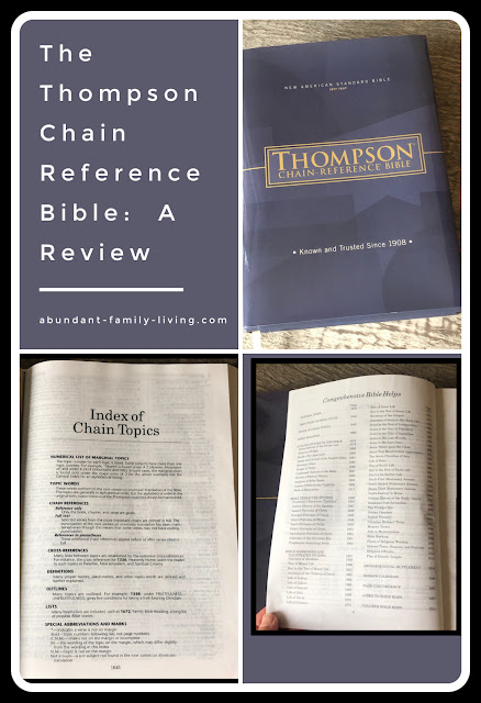 The Thompson Chain Reference Bible:  A Review