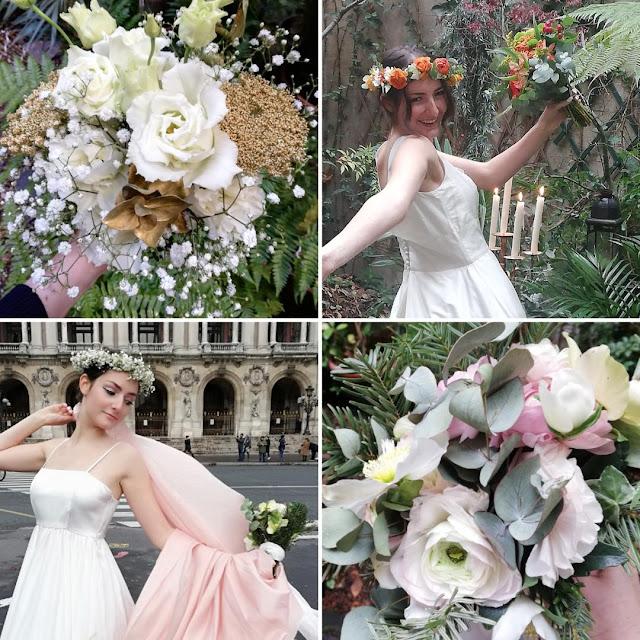 fleurs et robes de mariées
