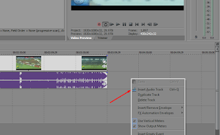 Cara menambah dan membuang track audio dan video di Sony Vegas Pro