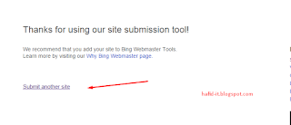 Submit bing another site