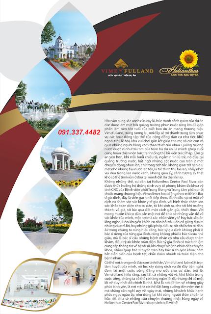 Giá bán Dự án Helianthus Center Red River Cổ Dương Tiên Dương Đông Anh Hà Nội