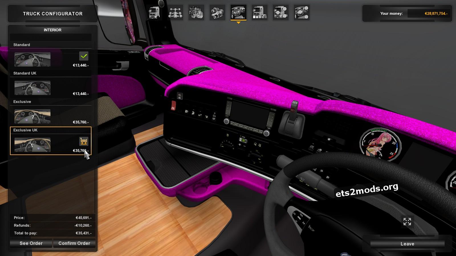 Scania R Hinagiku Skin + Interior